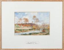 James Aumonier (British 1832-1911), Near Montreuil, watercolour, signed, 17cm x 25cm.