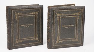 British Mosses (gilt titled to covers) two Victorian albums of specimens,