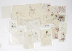 Max Schwimmer (1895 - 1960), a collection of thirteen original sketches,