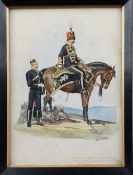 Richard Simkin (British 1850-1926), Tenth Prince of Wales's Own Royal Hussars/ Officers,
