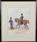 Richard Simkin (British 1850-1926), The 10th Prince of Wales's Own Royal Hussars, a pair,