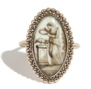 A gold mourning ring, circa 1800,