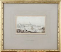 George Shepherd (British 1784-1862), A View at Broadstairs, pen, ink and grey wash over pencil,