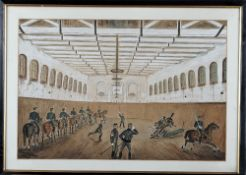 T. P. Chapman (19th century), Cavalry troopers and officers training dismounted; and