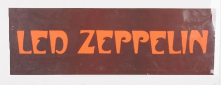 Music promotional posters comprising: Led Zeppelin (76cm x 25cm),