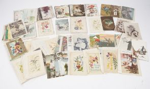 Postcards: Sentimental, Greetings, Theatrical, Humour and a few Topographical,