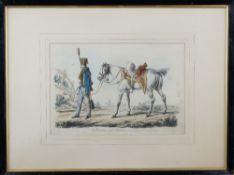 A group of six engravings and lithographs of Tenth Hussar subjects,