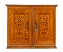 Augsburg early 17th century, an extensively marquetry inlaid table cabinet,