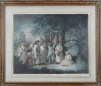 After George Morland, Blind man's buff; Children bird nesting; Children nutting;