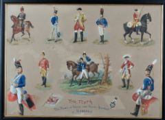 Circle of Richard Simkin, Uniforms of The Tenth, The Prince of Wales's own Regiment of Hussars,