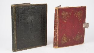 Commonplace books, two 19th century albums, one of 186pp.