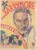 John Barrymore, 'A Bill of Divorcement', R.K.O.