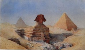 Alexander Balfour McKechnie (1860 -1930), The Sphinx and the pyramids, watercolour, signed,