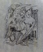 Max Beckmann (German, 1884-1950), Stadnacht, lithograph, signed, 23cm x 19cm.