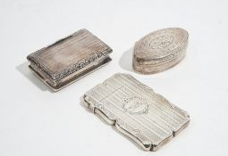 Silver, comprising; a Victorian shaped rectangular visiting card case,