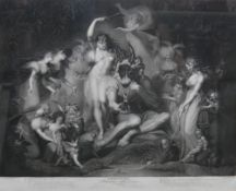After Henry Fuseli, Shakespeare: A Midsummer Nights Dream, stipple engraving by J. P.