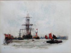 Charles Edward Dixon (British, 1872-1934), Below the W.I.