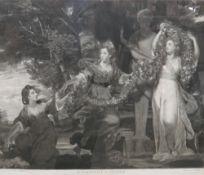 A group of three mezzotints,