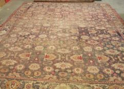 A 19th century Agra carpet, Indian,