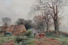 Henry Charles Fox (British, 1855 - 1929), Near Arundel, Sussex, watercolour, signed and dated 1915,