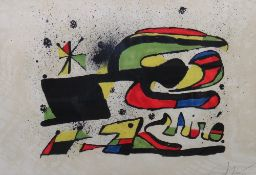 Joan Miro (Spanish 1893-1983), Space Flight, lithograph printed in colours on arches paper,
