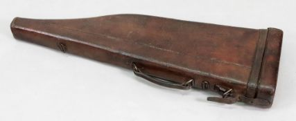 A Victorian brown leather leg-o-mutton g