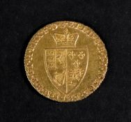 A George III 'Spade' Guinea, 1787, 8.4g.