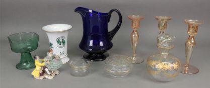 A Meissen trumpet shape vase, 20th centu