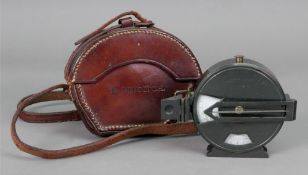 A Japanned brass cased compass, Patent N