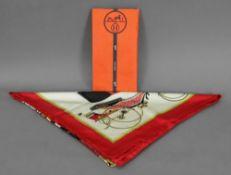 "Hermes scarf ""Les Voitures A Transformat"