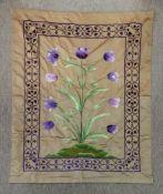 A long thread silkwork panel, 20th centu
