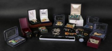 A large collection of costume jewellery,