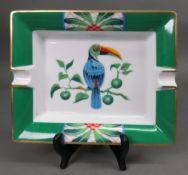 A Hermes toucan ashtray, 20 x 16.5cm.