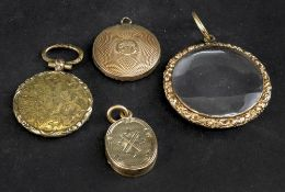 A George III circular memorial locket,