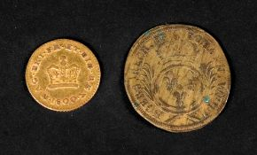 A George III third Guinea coin, 1800 and