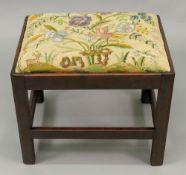 A George III style mahogany stool, 19th