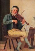 English School, 19th Century, The Violin