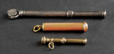 A Victorian engine turned propelling pen