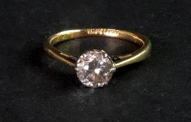 A single stone diamond ring, the brillia