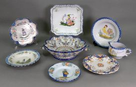 A collection of Quimper and other faienc