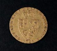 A George III 'Spade' Guinea, 1793, 8.4g.