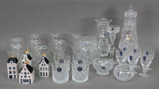 A boxed set of six Royal Doulton crystal