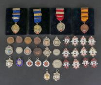 A collection of twenty six silver and co
