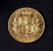 Queen Victoria sovereign, 1842.