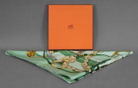 """Hermes scarf """"Grand Manege"""", designer H"""