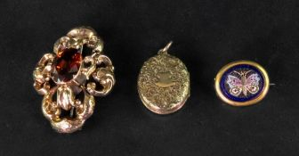 Three Victorian jewels, comprising; a go