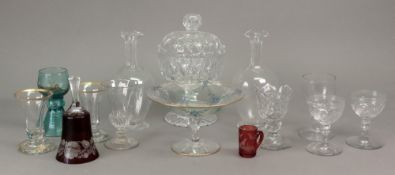 A late Victorian cut glass sweetmeat jar