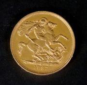 A Queen Victoria gold £2 coin, 1887, Gol