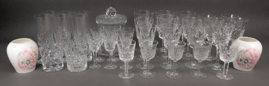 A set of five Waterford cut pattern wine