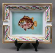 A Hermes scatophagus argus ashtray, (fish), 19 x 15.5cm.